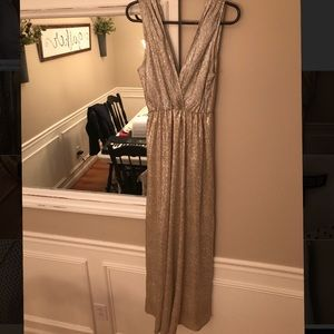 Long Gold Dress (perfect for bridesmaids)